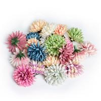 seiden nelken großhandel-Künstliche Blume 4 CM Seide Nelke Blüte Hochzeit Dekoration DIY Kranz Geschenk DIY Blume Wand Geschenk 10 farbe