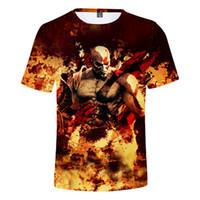 chemises décontractées achat en gros de-New Hot God Of War 3D Imprimer Caractère T-shirt Hommes / Femmes 2018 Casual Coton O-Cou Hip Hop streetwear T-shirts Hauts Dropshipping