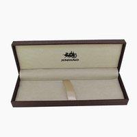holzstift bleistift box großhandel-Jinhao holz geschenkbox für luxus füllfederhalter / kugelschreiber / rollerball dunkelbraun federmäppchen stift box schulmaterial