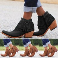 Wholesale ancient boots resale online - Women s Ancient Custom Tassel Ankle Side Zip Bare Boots Casual Short Booties