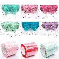 organza yıldızları toptan satış-Glitter Pullu Yıldız Tül Rulo 10 yard 15 cm Biriktirme Tutu Düğün Dekorasyon Organze Lazer DIY Zanaat Doğum Günü Partisi Malzemeleri