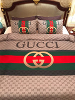 conjuntos de cama de laranja vermelho venda por atacado-Conjuntos de cama de alto desempenho custo relação rainha tamanho adulto 4 PCS capa de edredão conjunto estilo europeu primavera outono capa de cama