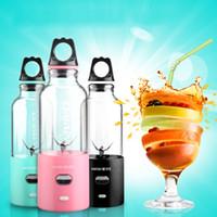 meyve suyu makineleri toptan satış-Barsny 500 ml Çok Fonksiyonlu Suyu Fincan USB Elektrikli Sıkacağı Makinesi Fincan Taşınabilir Blender Suyu Sıkacağı 6 Keskin Bıçakları + 25 W Güçlü Güç