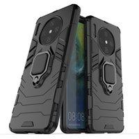 eisen mann silikon abdeckung fall groihandel-Telefon-Kasten für Huawei Mate-30-Finger-Ring-Halter-Eisen-Mann-Rüstung Shockproof Schutz-Hybrid-dünne harten Silikon-Telefon-Abdeckung für Huawei Mate30