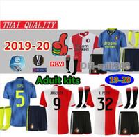fußball trikots feyenoord großhandel-2019 2020 Feyenoord Trikots Trikots 19 20 LARSSON V.PERSIE VILHENA BERGHUIS JORGENSEN Heimtrikots