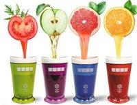 buz bardağı kalıpları toptan satış-Milkshake Smoothie Slush Shake Makinesi Fincan Dondurma Kalıpları Popsicle Kalıpları Freeze Dondurma Makinesi Araçları Meyve Smoothie 5 RENKLER