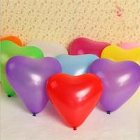 boda inflable flotante al por mayor-0pcs / lot Hot New bolas de aire globos de látex de 10 pulgadas del corazón de la boda decoración inflable globos fiesta de cumpleaños del flotador juguetes 7Z 10pcs / lot de la N ...