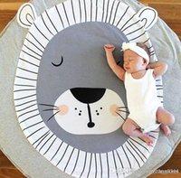 lindos juguetes de leon de bebe al por mayor-Venta al por mayor- 95cm INS Leones Dibujos animados en 3D Oso lindo Bebé Alfombra de arrastre Niños bebés recién nacidos que juegan al juego Juguete Mat Envío Gratis
