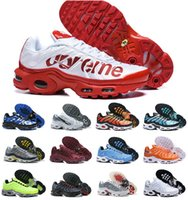 neu gestaltete schuhe großhandel-Verkauf 2019 neue Original Tn Schuhe neue Designs Mode Herren Tns Turnschuhe atmungsaktiv Mesh Air Tn Plus Chaussures Requin Sport Trainer Schuhe