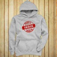 inder kultur großhandel-Der graue Hoodie der MADE IN SEAL PROUD INDIAN CULTURE FAMILY-Frauen