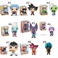 Wholesale halloween puppets for sale - Group buy 23 Style Funko POP Dragon Ball Z toys New Anime Super Saiya Son Goku Vegeta IV Frieza Beerus PVC dolls Gifts toys B1