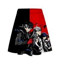 yeni moda 3d kısa elbiseler toptan satış-Persona5 Anime Baskı 3D Kadınlar Casual Yaz Kısa Elbise Serin Moda Giyim 2019 Yeni Arrivel Yaz Elbise