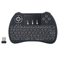 Wholesale Wireless H9 Backlit Keyboard Fly Air Mouse Multi Media Remote Control Touchpad Handheld QWERTY with Blacklight For Android TV BOX