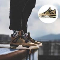 design basquetebol sapatos masculinos desportivos venda por atacado-Marca 4 4s Mushroom tênis de basquete Pérola Leite Chá fresco Fashion Shoes Projeto externas instrutor Esportes Homens Womans sapatilha Com Box
