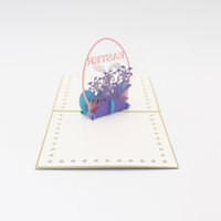 Wholesale greeting cards for sale - Easter D Stereo Greeting Card Handmade Hollow Paper Art Cards Rabbit Animal Gifts Creative Popular Fancy zy A1
