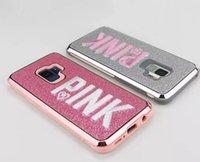 ingrosso flash casi 3d-Custodia rosa Custodia iphone Moda 3D Ricamo L Flash Custodia in metallo con polvere per iPhone iPhove Pinkone X, iPhone 8, 7, 6 Plus samsung s10 10p s10e