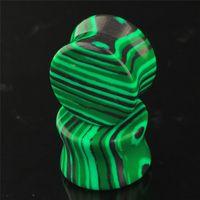 organische steine großhandel-6-16mm Organische Grüne Konkave Malachit Stein Ohrstöpsel Tunnel Piercing Expander Bahre zu Ohrsattel Piercing Schmuck für Frauen Männer