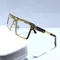 kadınlar için kırmızı bardaklar toptan satış-Kadın moda optik gözlük çerçeve tasarımcısı gözlük gözlük kare meatl çerçeve gözlük çerçeve kırmızı kutu ile gel 6205247