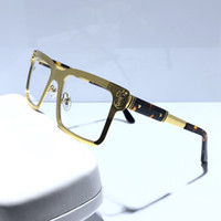 quadros de óculos de designer venda por atacado-Moda feminina óculos de armação de óculos de designer óculos de armação quadrada quadro quadro óculos vem com caixa vermelha 6205247