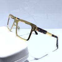 Wholesale red rectangle eyeglass frames for sale - Group buy Women fashion optical glasses frame designer eyewear glasses square meatl frame eyeglasses frame come with red box