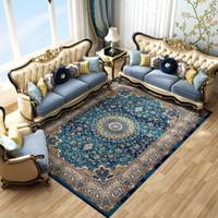 alfombras de salón al por mayor-Importado Persa Alfombras grandes para sala de estar 100% Polipropileno Dormitorio para el hogar Alfombra Alfombra para el piso Alfombras para la sala de estar Alfombra