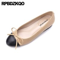 фарфоровая обувь оптовых-Women Fashion 2019 Slip On Celebrity China Designer Chinese Ladies Beautiful Flats Shoes Embellished Round Toe Walking  Bow