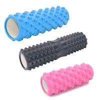 spor blokları toptan satış-Masaj Silindiri Yoga Blok Yoga Sütun Köpük Yoga Pilates Köpük Rulo Spor Tren Spor Egzersiz Köpük Spor Aracı T190720 Relax