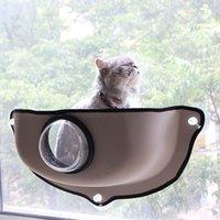 покрытые гамаки оптовых-Творческое Прозрачная крышка Cat Hammock Cat Window Кровать Лежак Диван Подушка Подвесная полка Сиденье для Ferret Шиншилла SH190926