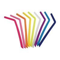 gel gratuit x achat en gros de-En gros de qualité alimentaire potable pailles réutilisables pour 20 oz 30 oz tasse de gel de silice potable paille L245mm X OD11mm X ID8.5mm livraison gratuite