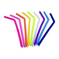 freies x gel großhandel-Großhandelsnahrungsmittelgrad, der wiederverwendbare Strohe für 20oz 30oz Schalen-Silikagel-Trinkhalm L245mm X OD11mm X ID8.5mm trinkt Freies Verschiffen