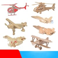 Wholesale old plane models for sale - Group buy Artificial Aircraft Model For Kids Various Styles Dinosaur Vehicle Robot Models Wooden Toys Hot Selling Building Blocks hr M1