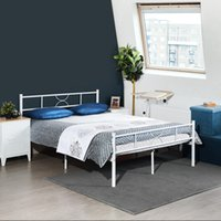 Wholesale minimalist bedding for sale - Group buy Minimalist Double Bed Double Metal Bedstead Metal Bed Frame Non Slip and Noiseless