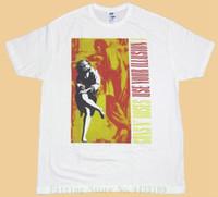 blusa branca venda por atacado-Guns N 'Roses Use Sua Ilusão I Camisa Branca T Frete Grátis 100% Camisas De Algodão T Para O Homem