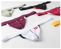 ingrosso biancheria sexy calda per gli uomini-2019 Uomini Intimo Bikini Pene Pouch Sexy Mesh Traspirante Perizoma maschile Corde G Nuovo Mens caldo Sexy pantaloncini lingerie