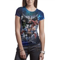 grüne übermenschhemden großhandel-Frau Design Druck Superman Batman Flash Green Lantern weißes T-Shirt Druck Unterhemd Grafik machen Freunde Hemden Hip Hop T-Shirt s