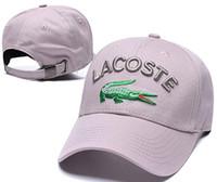 designers snapback cap venda por atacado-Boné de beisebol da moda designer de luxo snapback caps bordado crocodilo bola chapéu de alta qualidade novo verão ao ar livre osso casquette sun polo chapéu