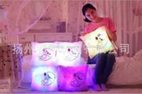 ingrosso bambole d'amore farcite-DHL LED Flash Light Tenere cuscino Love Doll Peluche Giocattoli farciti 40cm regalo di illuminazione per bambini Regalo di Natale farcito peluche