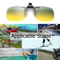 Wholesale clip night vision goggle resale online - UV400 Polarized Sunglasses Clip Driving Sunglasses Clip Goggles Day And Night Vision Cycling Fishing Eyewear eyes