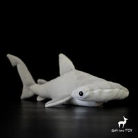 Wholesale stuffed animal sharks for sale - Group buy Stuffed Animal Toy Soft Hammerhead shark Dolls Real Life Plush Marine life Toys For Children Cute Birthday Gifts Pillow