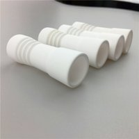 Wholesale female ceramic nail resale online - Popular Handy Ceramic Nails mm with female domeless glass bongs spiral ceramic nail for smoking