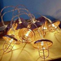 endüstriyel mağaza ışıkları toptan satış-Endüstriyel Stil Retro Abajur Işık Dize Ferforje Pembe Altın Geometrik Dize Coffee Shop Parti Dekorasyon Şeklinde