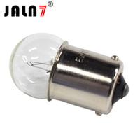 1157 bay15d оптовых-G18 имеет 10шт автомобиль ba15d BAY15D BAU15S 1156 1157 ba15s из Р10/5Вт категории r10w 12В 24В прозрачное стекло лампа тормоз хвост лампа автомобиля один свет