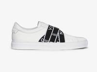 melhores sapatos para homens brancos venda por atacado-NEW luxo Paris strap sneaker homem top quality caixa original casual confortável apto sapatos melhor designer 4G tênis para as mulheres brancas