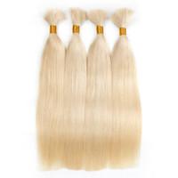 mejores paquetes de pelo al por mayor-Best selling100% Human Remy Brazilian Hair Seda Onda recta A granel sin trama, 100 g por paquete