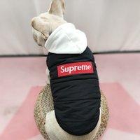 relleno de ropa para perros al por mayor-SUP Ropa para perros nueva S-4XL Mascota acolchada con sombrero Chalecos de otoño e invierno Chaquetas Schnauzer Teddy Bulldog