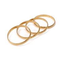pulseiras de bracelete simples venda por atacado-Pulseiras Etíopes Dubai Jóias De Ouro Pulseiras Para Etíope Pulseiras Plana Brilhante Glossy