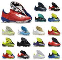 sapato de inicialização venda por atacado-Hot New X 18.1 18 + FG Mens Futebol Futebol Sapatos Salah Jesus 18 + x SKELETALWEAVE Chuteiras de Futebol Chuteiras Tamanho US6.5-11
