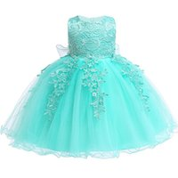 Wholesale birthday party dresses for girls resale online - Baby Girls Newborn Dress For Year Birthday Party Dress Embroidered Tutu Infant Toddler Flower Dresses Years Clothing J190619