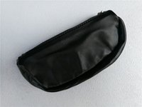 Wholesale leather pipe case for sale - Group buy black PU Leather Tobacco Pouch case herb tobacco spice leaf Storage bag Smoking cigarette case smoking pipe bag tobacco Holder Pocket Wallet