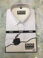 camisas formales de marca para hombres al por mayor-Oxford Camisa de vestir para hombre 3XL Business Casual para hombre Camisas de manga larga Adelgazamiento formal Camisa Blanco Azul Rosa Marca Moda